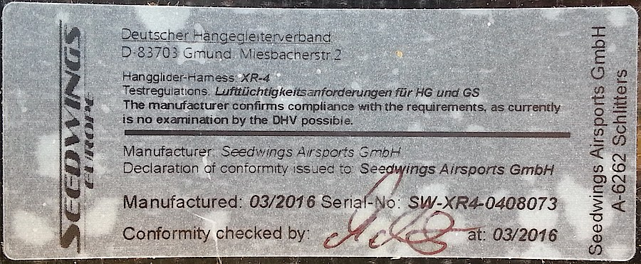 Identifikation plaque
