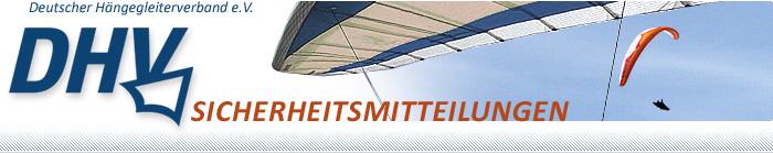 Wichtige Sicherheitsmitteilungen auf dhv.de