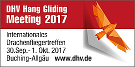DHV Hang Gliding Meeting 2017 30.09.-01.10.2017 Buching/Allgäu